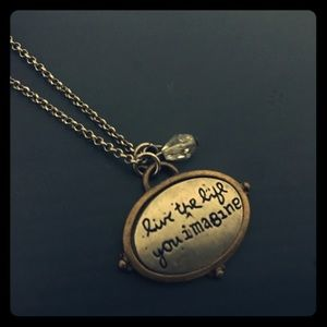 Live the Life You Imagine Silver Charm Necklace
